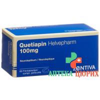 Кветиапин Хелвефарм 100 мг 60 таблеток покрытых оболочкой