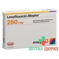 Левофлоксацин Мефа 250 мг 5таблеток покрытых оболочкой