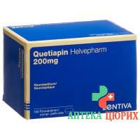 Кветиапин Хельвефарм 200 мг 100 таблеток покрытых оболочкой