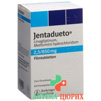 Джентадуэто 2,5 мг / 850 мг 2 × 90 таблеток покрытых оболочкой