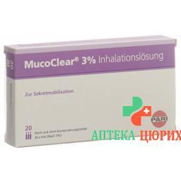 Pari Mucoclear раствор для ингаляций 3% NaCl 20 ампул 4мл