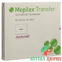 Mepilex Transfer Safetac Wundauflagen 20x50см Sil 4 штуки
