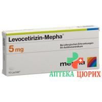 Левоцетиризин Мефа 5 мг 10таблеток покрытых оболочкой