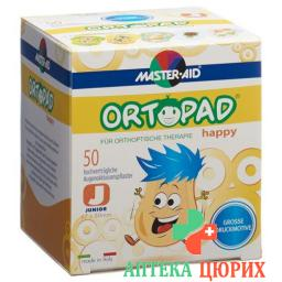 Ortopad Happy Occlusionspflaster Junior 50 штук