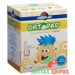 Ortopad Happy Occlusionspflaster Regular 50 штук