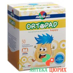 Ortopad Happy Occlusionspflaster Medium 50 штук
