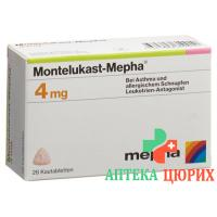 Монтелукаст Мефа 4 мг 98жевательных таблеток