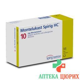 Монтелукаст Спириг 10 мг 98таблеток покрытых оболочкой