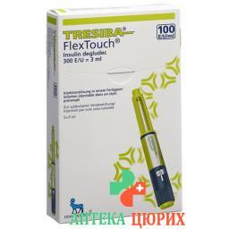 Тресиба ФлексТач раствор для инъекций 100 ЕД/мл 5 предварительно заполненных шприцев по 3 мл