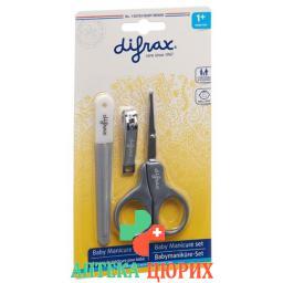 Difrax Nagelset Schere Feile Knipser