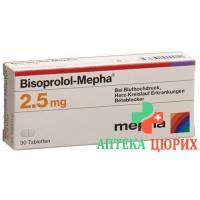Бисопролол Мефа 2,5 мг 30 таблеток