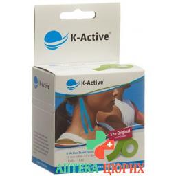 K-active Kinesio Tape 5смx5m Grun Wasserabwe