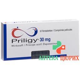 Прилиджи 30 мг 6 таблеток покрытых оболочкой