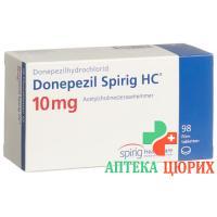 Донепезил Спириг 10 мг 98таблеток покрытых оболочкой