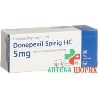 Донепезил Спириг 5 мг 28таблеток покрытых оболочкой