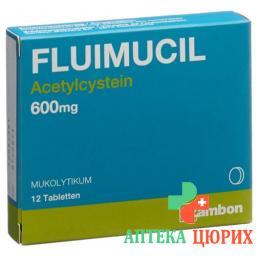 Флуимуцил 600 мг 12 таблеток