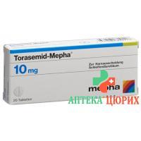 Торасемид Мефа 10 мг 100 таблеток