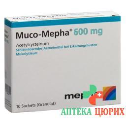 Муко-Мефа гранулы 600 мг 10 пакетиков