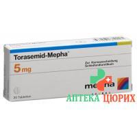 Торасемид Мефа 5 мг 20 таблеток