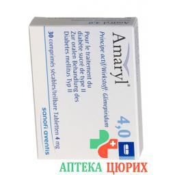 Амарил 4 мг 30 таблеток