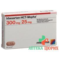 Ирбесартан ГХТ Мефа 300/25 28 таблеток покрытых оболочкой