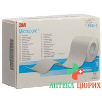 3M Micropore Vlies Heftpflaster ohne диспенсер 25мм x 9.14m weiss 12 штук