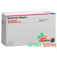 Метформин Мефа 1000 мг 60 таблеток покрытых оболочкой