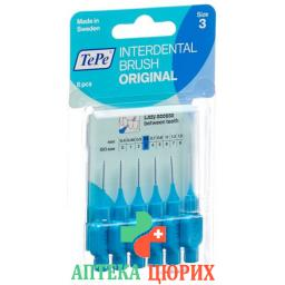 Tepe Interdental Brush 0.6мм Blau блистер 6 штук