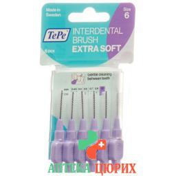 TePe Interdentalbursten X-soft 1.1мм 6 штук