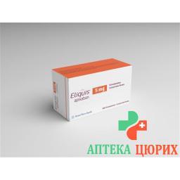Эликвис 5 мг 168 таблеток покрытых оболочкой