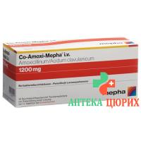 Ко-Амокси Мефа сухое вещество 1200 мг 10 флаконов