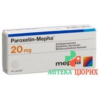 Пароксетин Мефа 20 мг 98 таблеток покрытых оболочкой