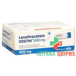 Леветирацетам Деситин 1000 мг 30 мини-упаковок с мини-таблетками покрытыми оболочкой