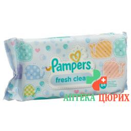 Pampers Feuchte салфетки Fresh Clean 64 штуки