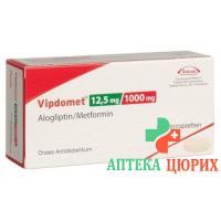 Випдомет 12,5/1000 мг 112 таблеток покрытых оболочкой