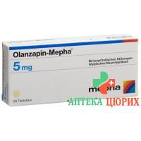 Оланзапин Мефа 5 мг 98 таблеток