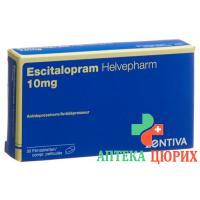 Эсциталопрам Хелвефарм 10 мг 30таблеток покрытых оболочкой