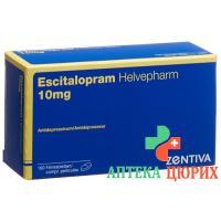Эсциталопрам Хелвефарм 10 мг 100таблеток покрытых оболочкой