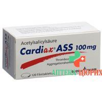 Кардиакс Aсс 100 мг 120таблеток покрытых оболочкой