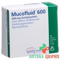 Мукофлуид 600 мг 14 шипучих таблеток