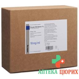 Прокаин HCL 1% Амино 100 мг/10мл 100 ампул 10 мл