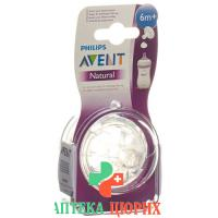 Avent Philips Naturnah Sauger Y F Folgenahr 2 штуки