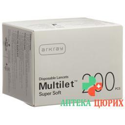 Multilet Super Soft ланцеты F Multi Lanc 200 штук