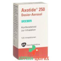 Аксотид 250 мкг дозирующий ингалятор 120 доз без фреона