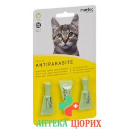 Martec Pet Care Drop On Antiparasite Katze 0.75мл