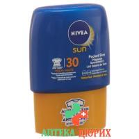 Нивея Сан питательное молочко для загара солнцезащитный фактор-30 компактный размер 50 мл