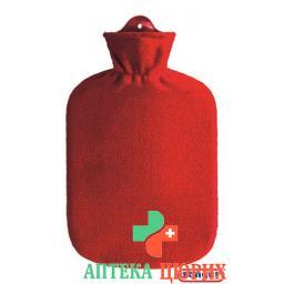 Saenger грелка 2л Fleecebezug Rot