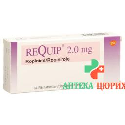 Рекуип 2 мг 84 таблеток покрытых оболочкой