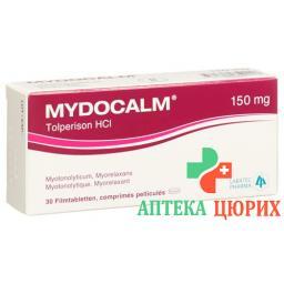 Мидокалм 150 мг 30 таблеток покрытых оболочкой