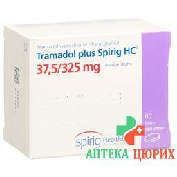Трамадол плюс Спириг 37.5/325 мг 60 таблеток покрытых оболочкой